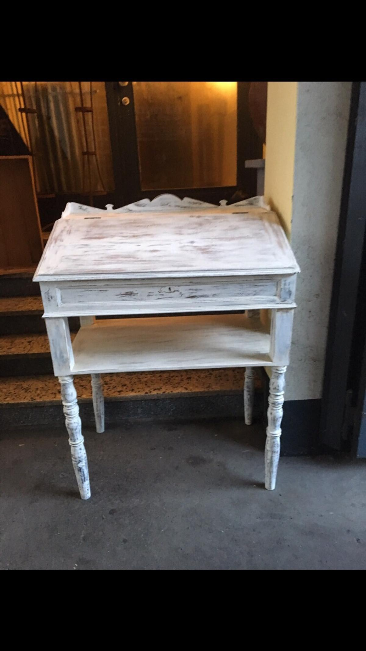 Stehpult weiss Shabby chic Antik