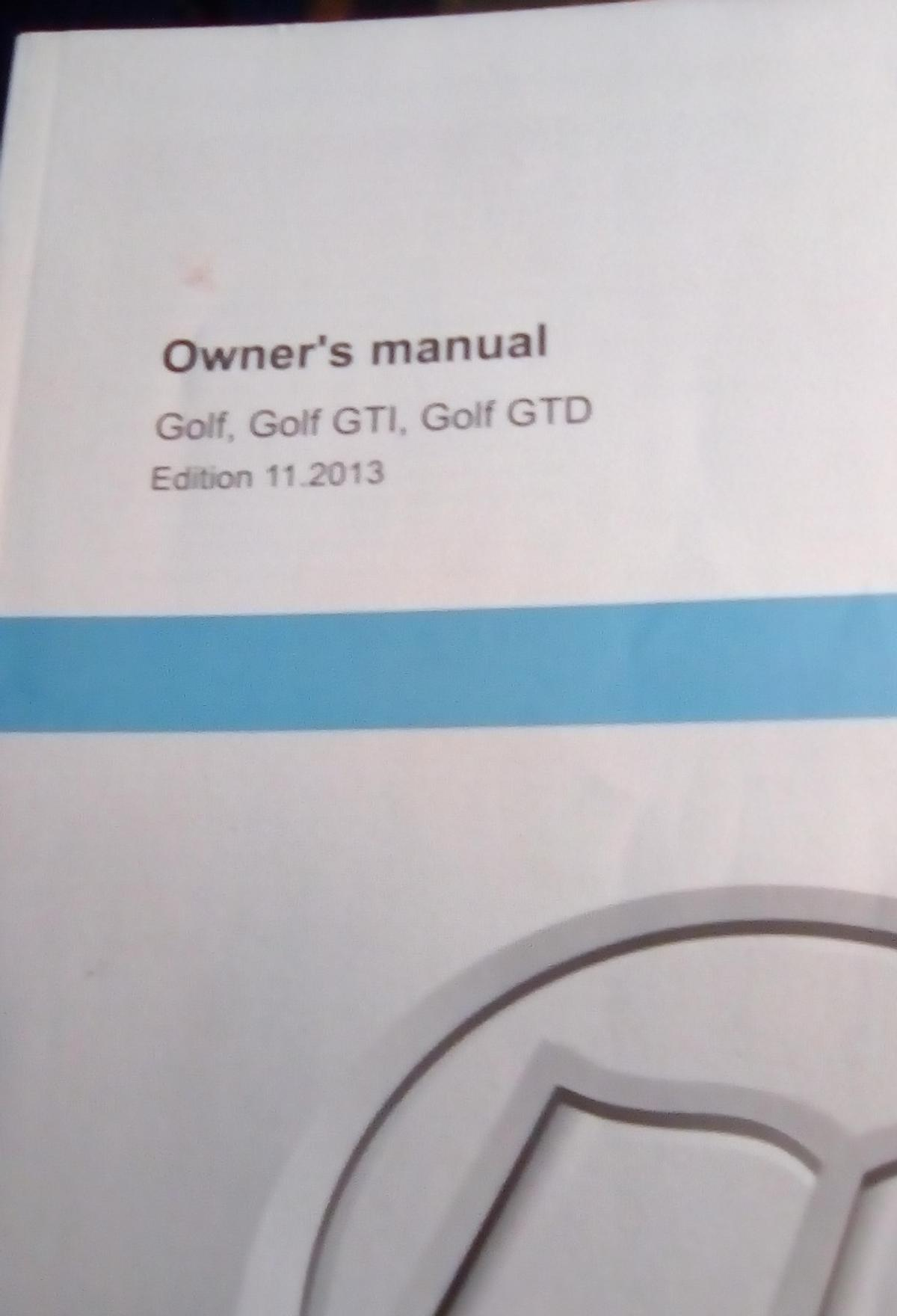Vw owners manual