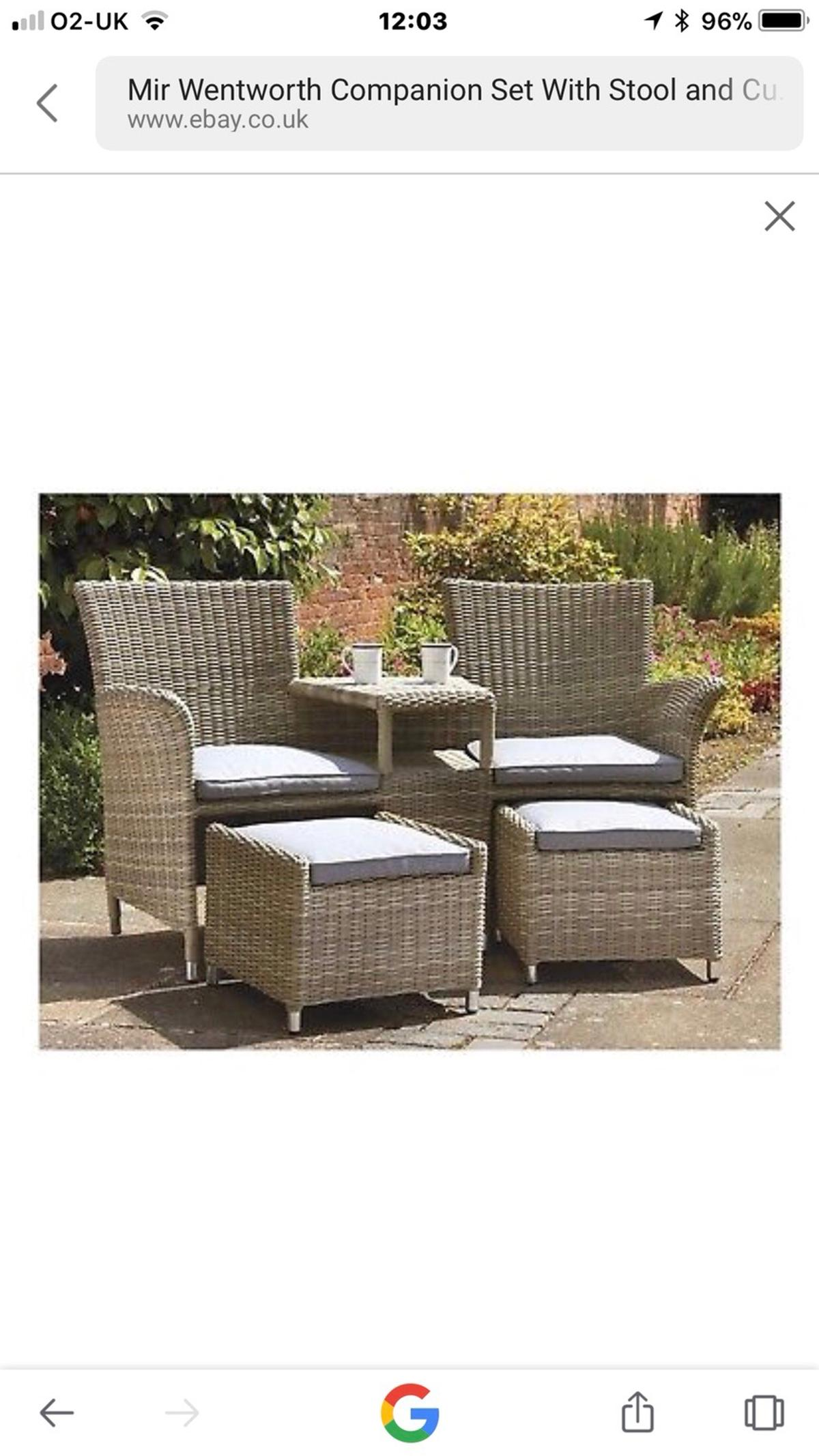 John Lewis Rattan Companion Set With Footstoo In Dy104lj Wocestershire For 299 00 For Sale Shpock