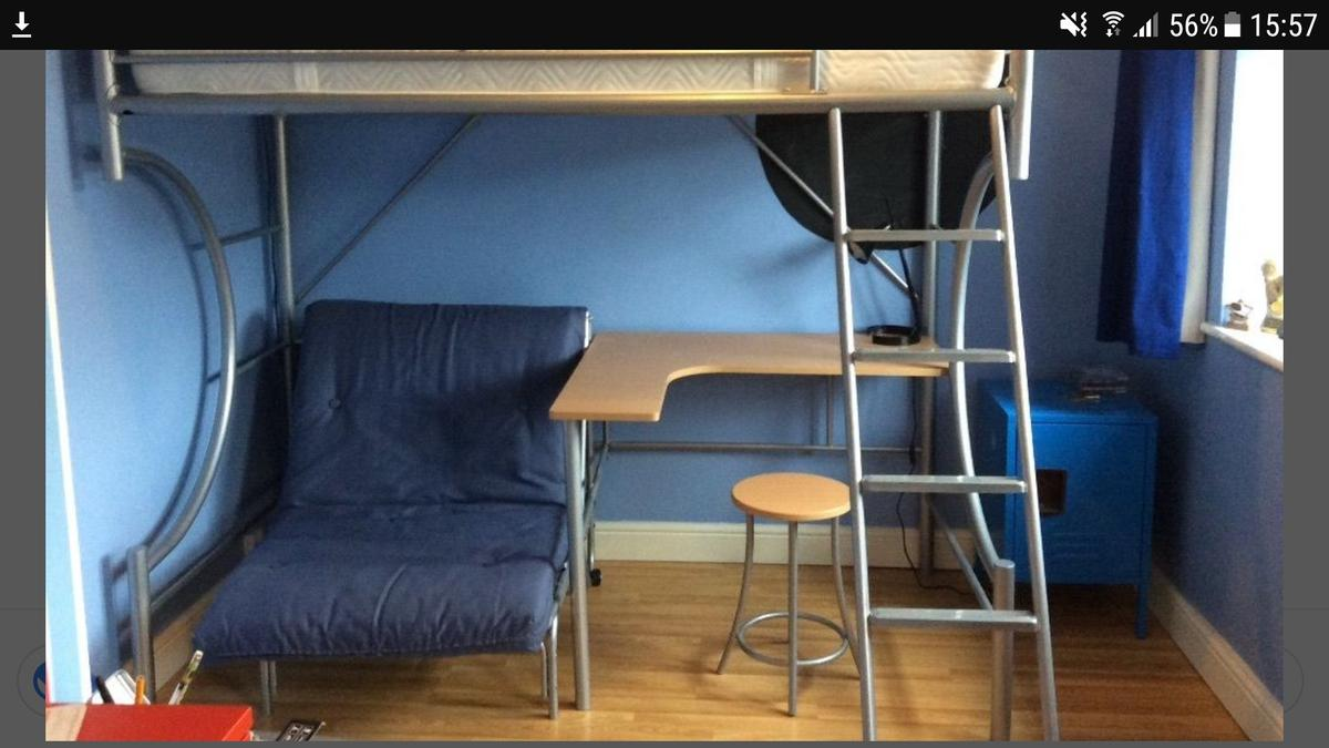 Cabin Bed With Futon