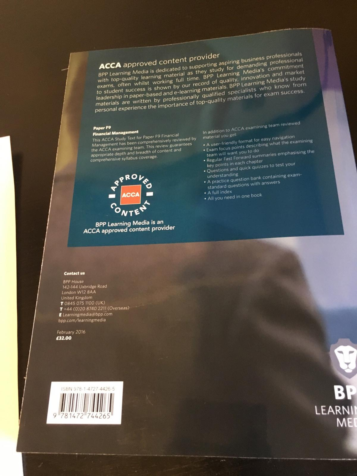Financial Management F9 Study Manual Of Bpp | Wiring Library