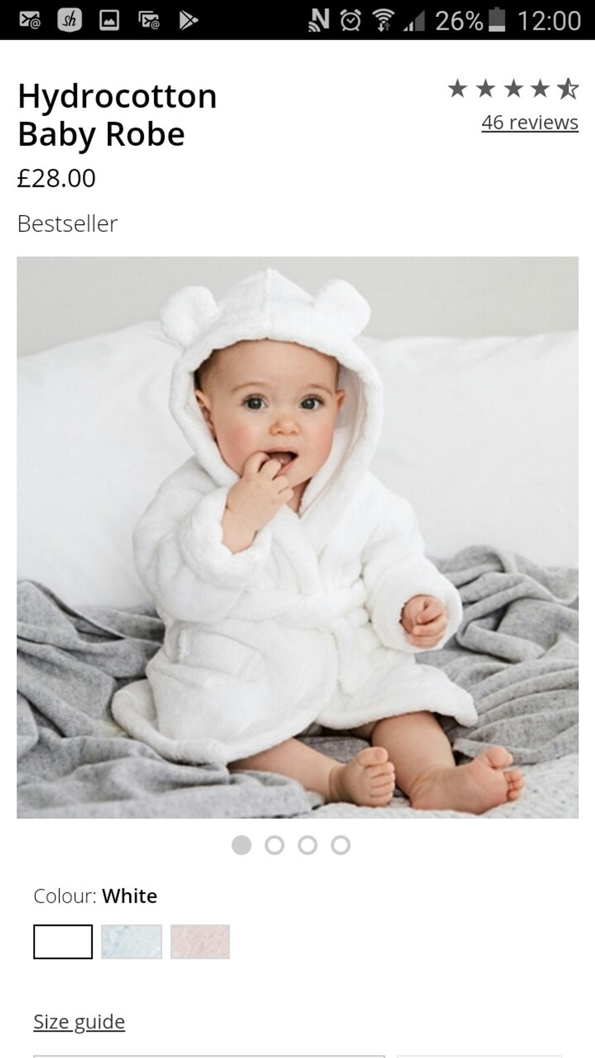 The little white company dressing gown in SE15 London for