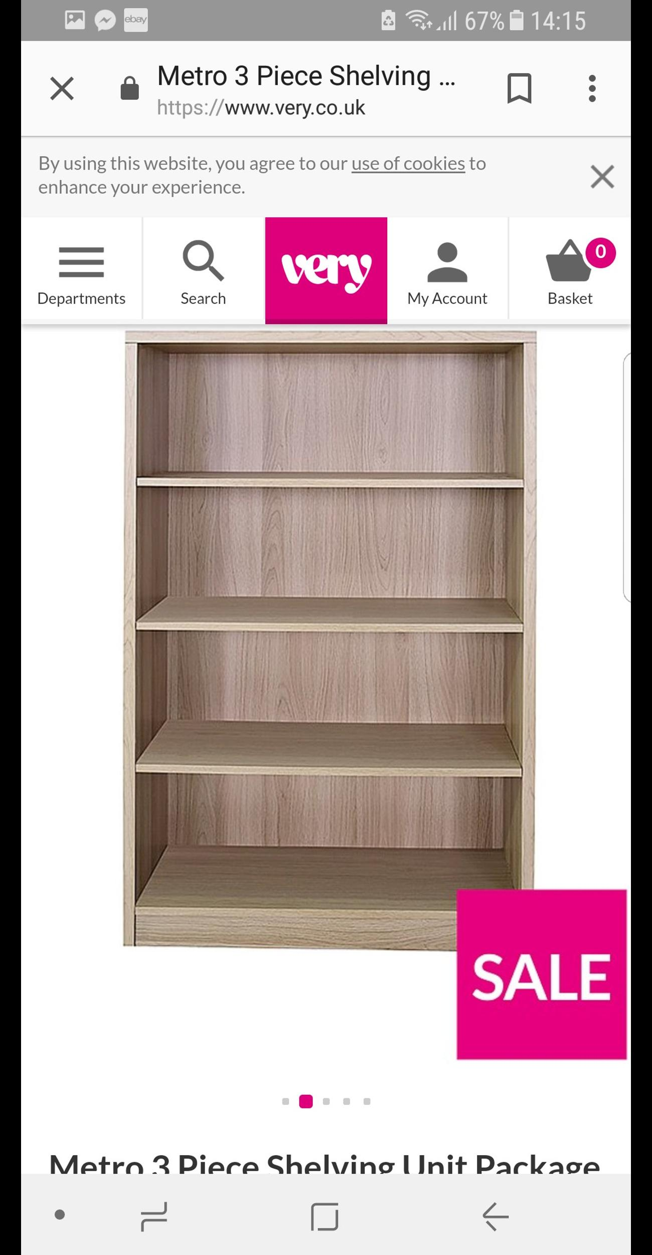 Metro 3 Pieces Shelving Unit In M9 Manchester For 80 00 For