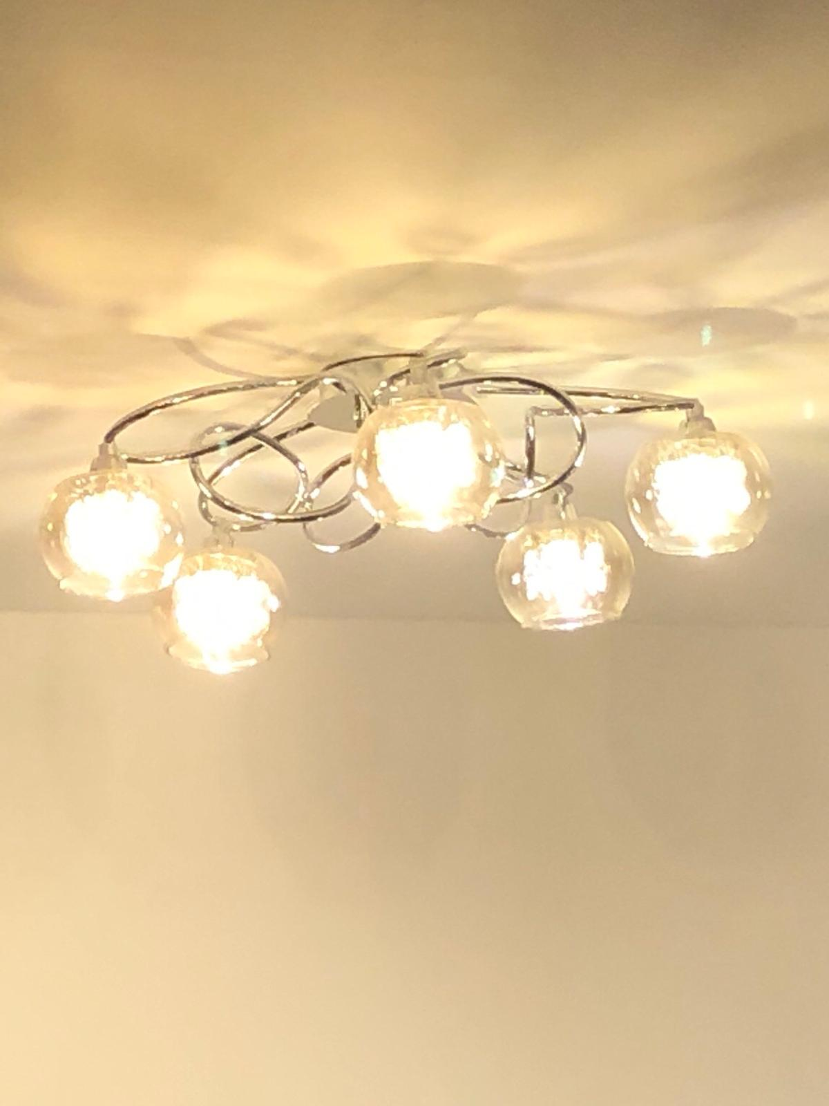 A Pair Of Dunelm Ceiling Lights