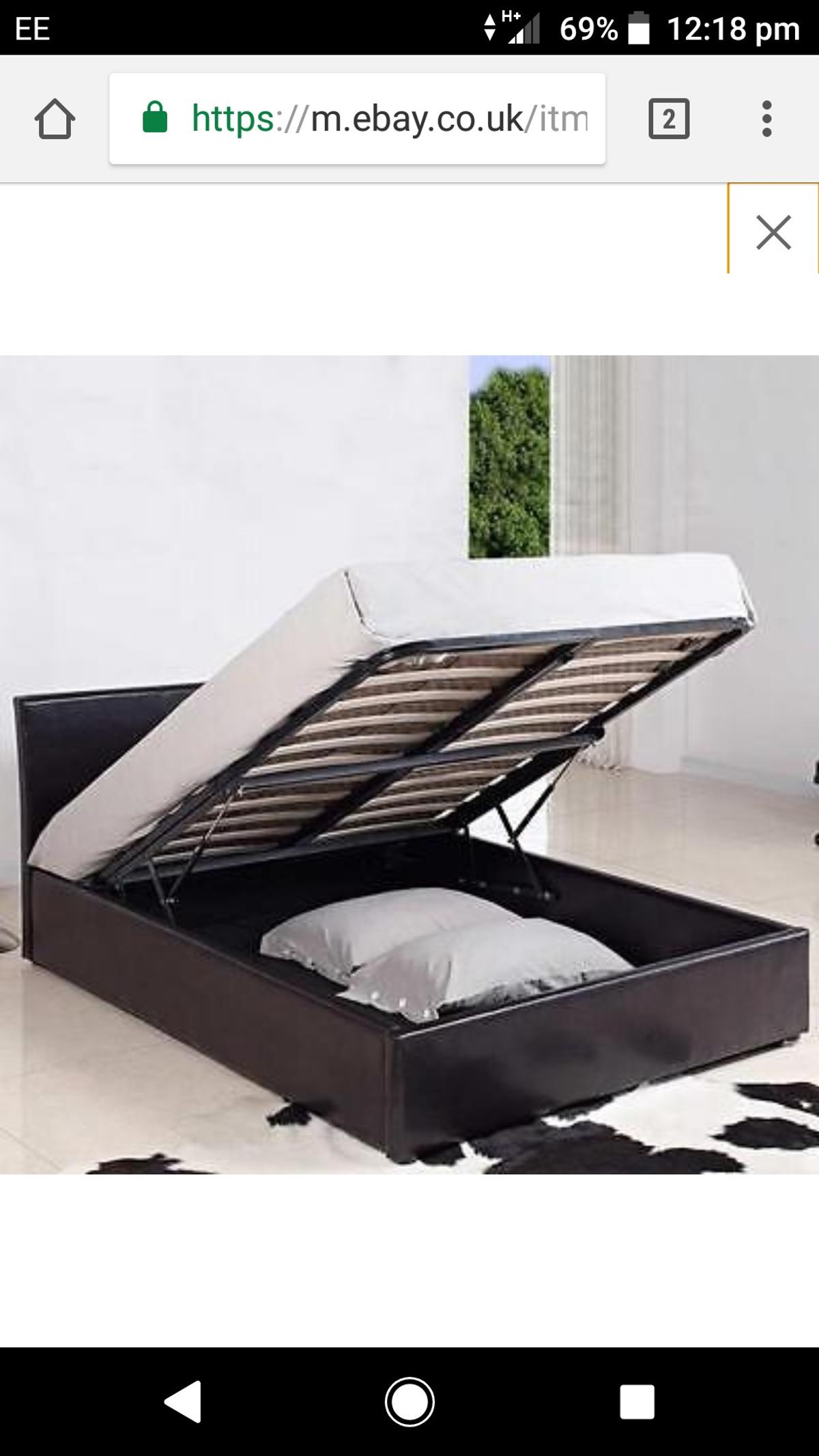 Prime Double Faux Leather Ottoman Bed Base Ibusinesslaw Wood Chair Design Ideas Ibusinesslaworg