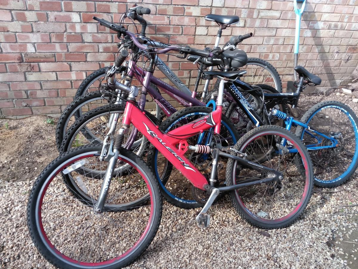 5 Mountain Bikes for sale (3 mens, 2 ladies) in King's Lynn