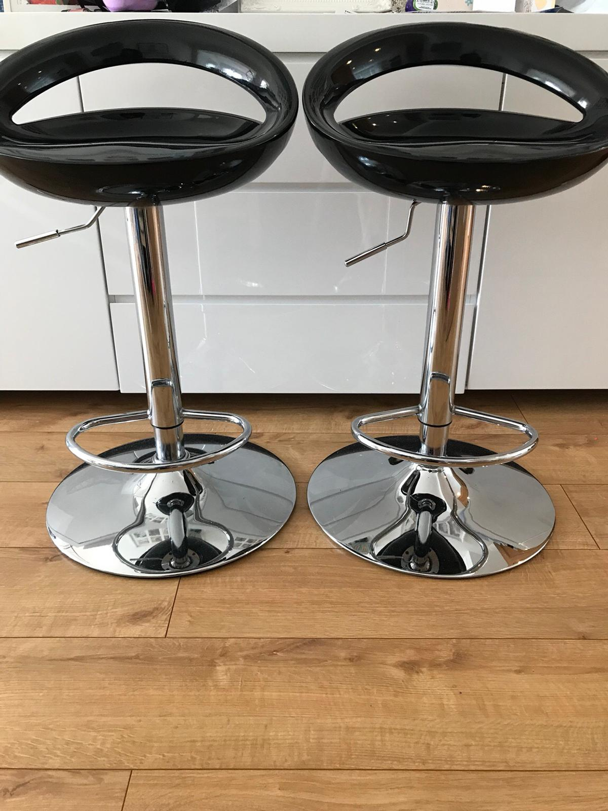 Excellent Two Height Adjustable Bar Stools Lamtechconsult Wood Chair Design Ideas Lamtechconsultcom