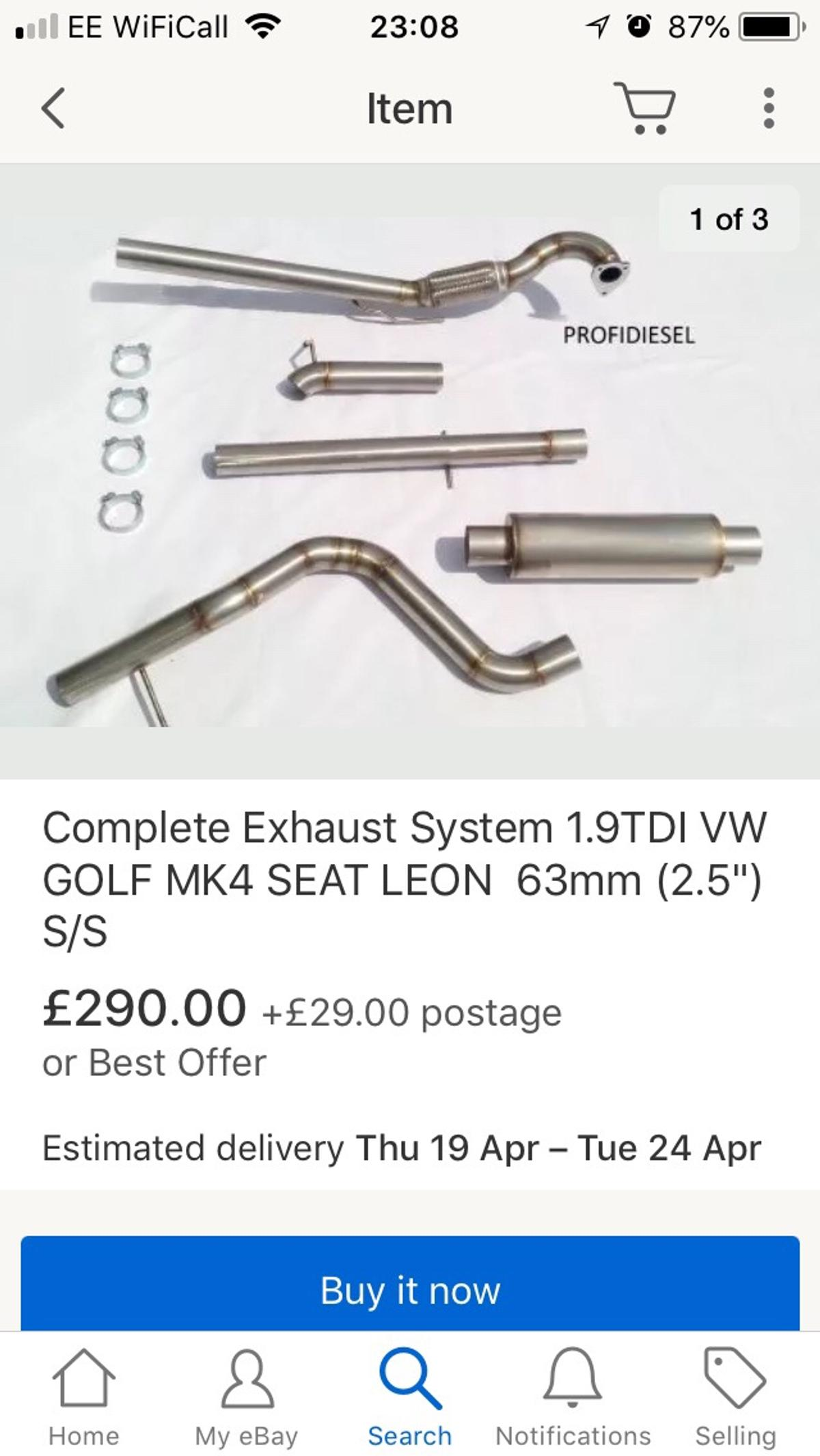 Mk4 golf tdi decat exhaust kit in CO2 Colchester for £80 00