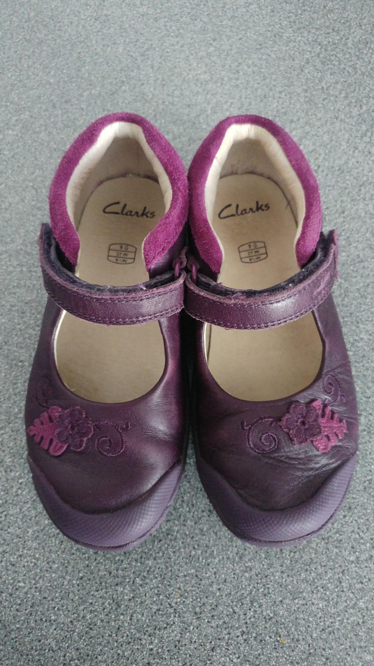 19336669 Girls Clarks shoes size 9F Plum purple colou in Oldham for £6.00 for ...