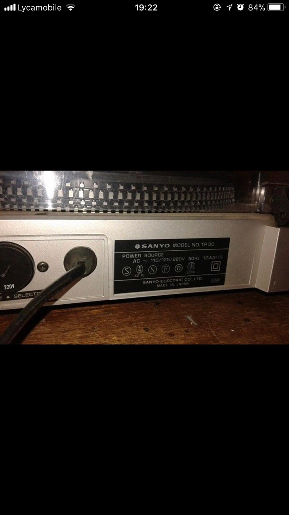 Turntable vintage Sanyo TP 30 mint condition in N1 Hackney for