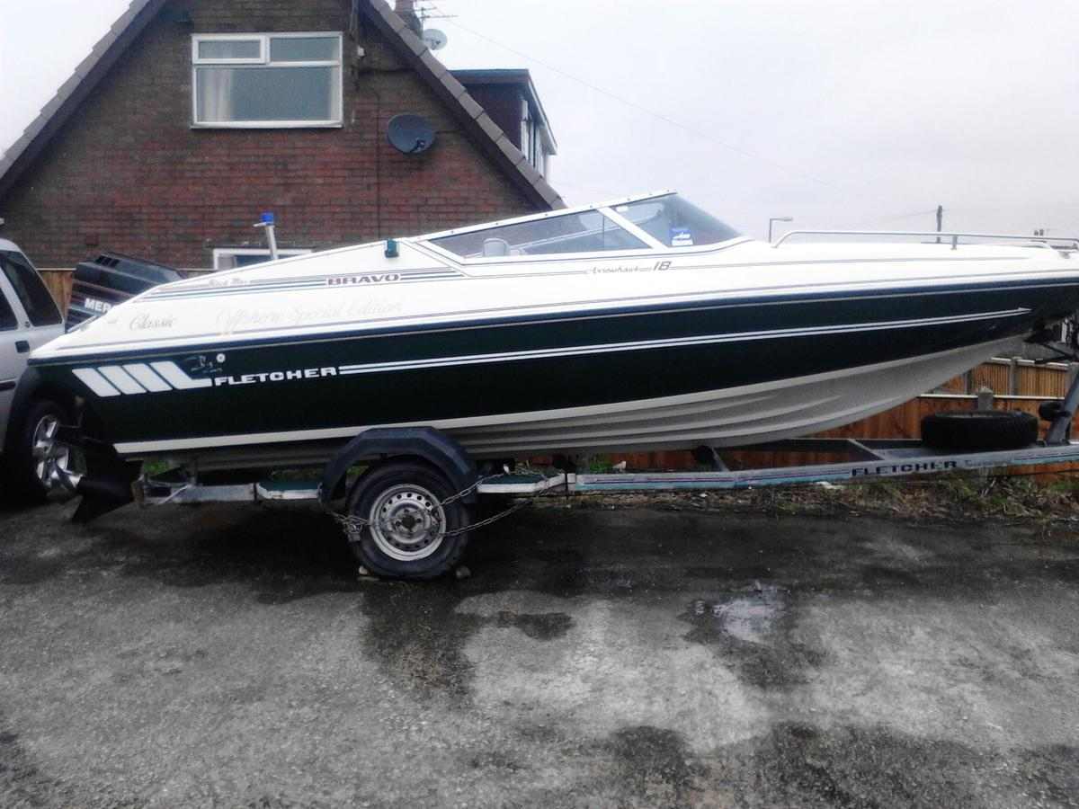 Fletcher Arrow hawk 18 speed boat in LL65 Holyhead for