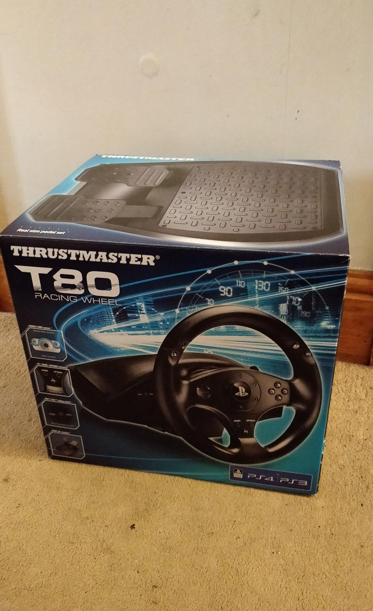 Thrustmaster T80 Racing Wheel for PS4 (New)