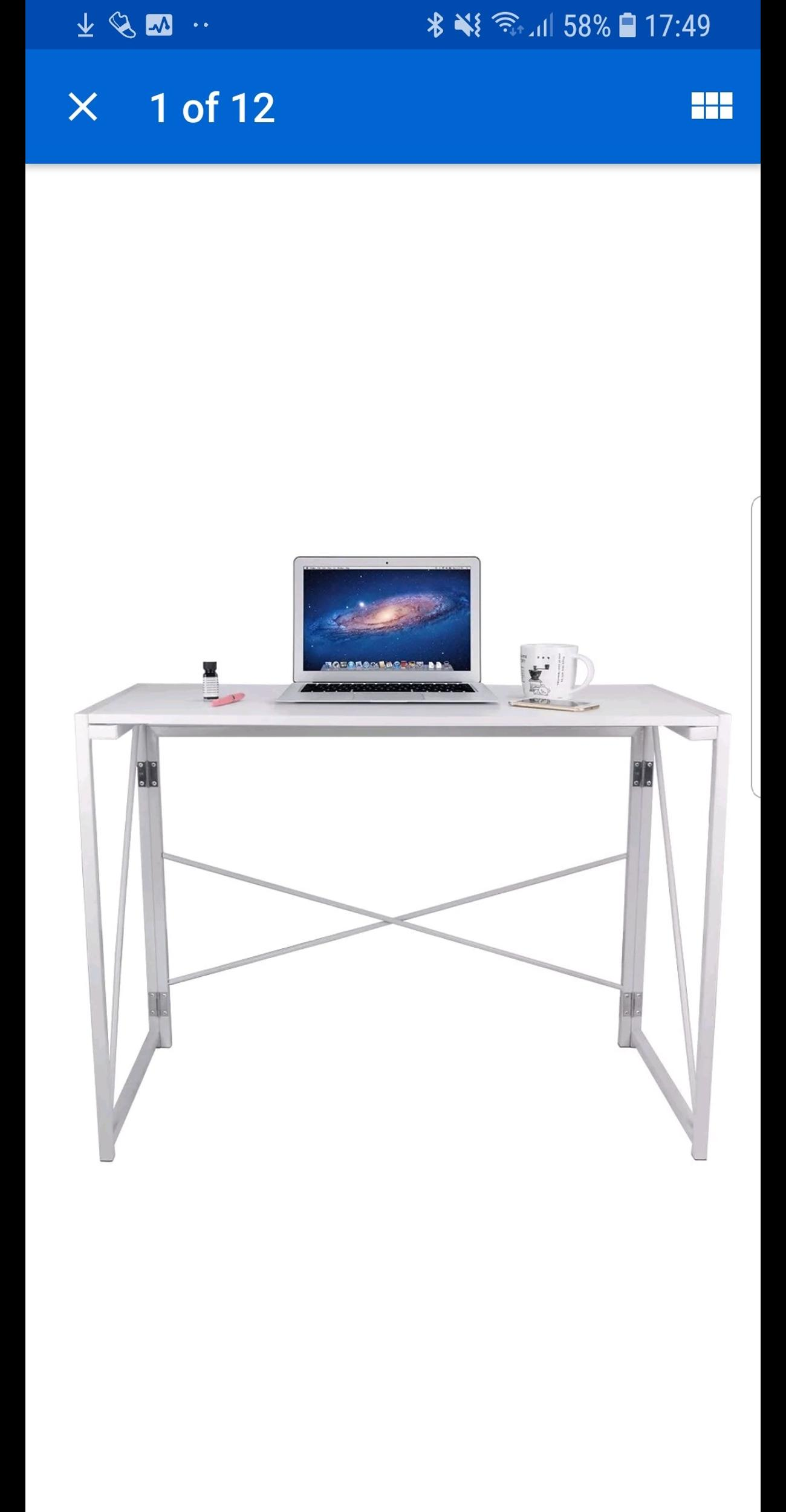 Amazing Foldable Computer Pc Desk Table New Boxed Beutiful Home Inspiration Truamahrainfo