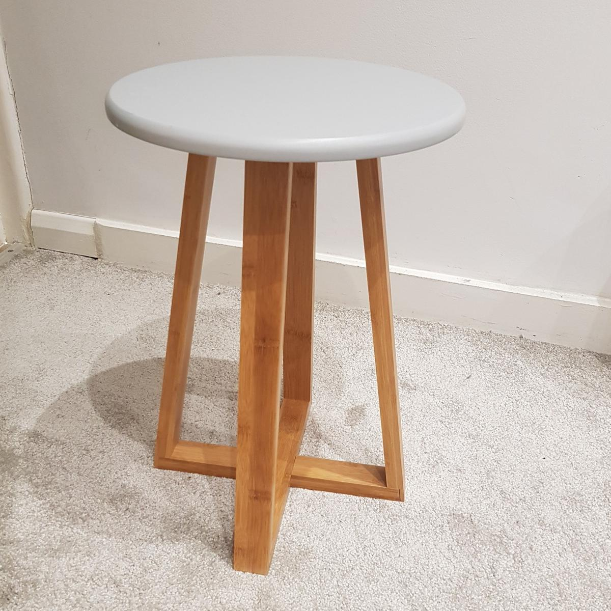 Groovy Wood Stool Side Table Plant Stand Squirreltailoven Fun Painted Chair Ideas Images Squirreltailovenorg