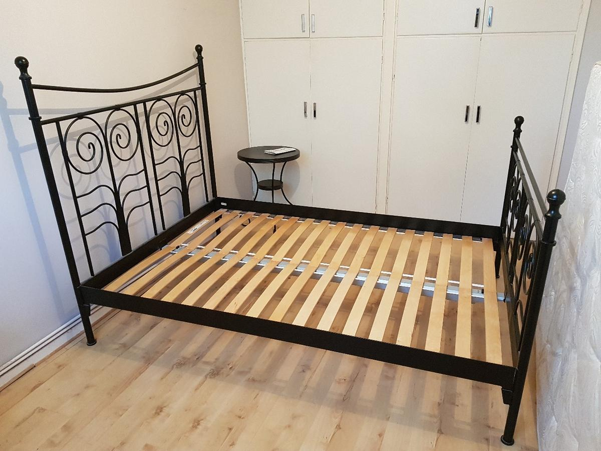 Ikea Noresund Double Metal Bed Frame Black In N13 Enfield For 60 00 For Sale Shpock