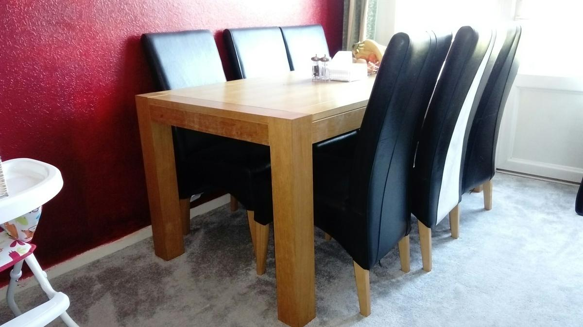 Astounding Solid Oak Dining Table For Sale Home Interior And Landscaping Ologienasavecom
