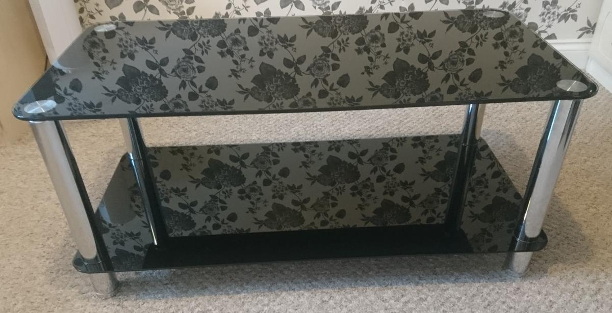 Coffee Table Black Glass In Daventry For 18 00 For Sale Shpock