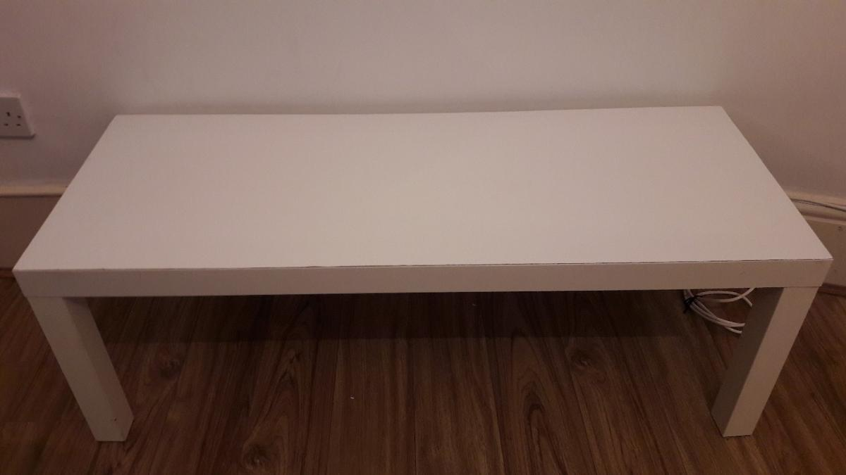 - White IKEA Coffee Table With Runner In E11 Forest For £5.00 For
