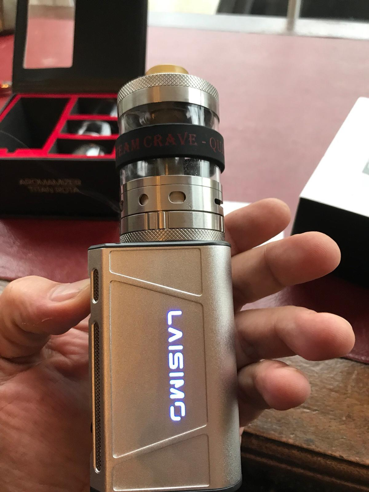 Steam Crave Titan RDTA, Laisimo F4 vape mod in CH42 Wirral for