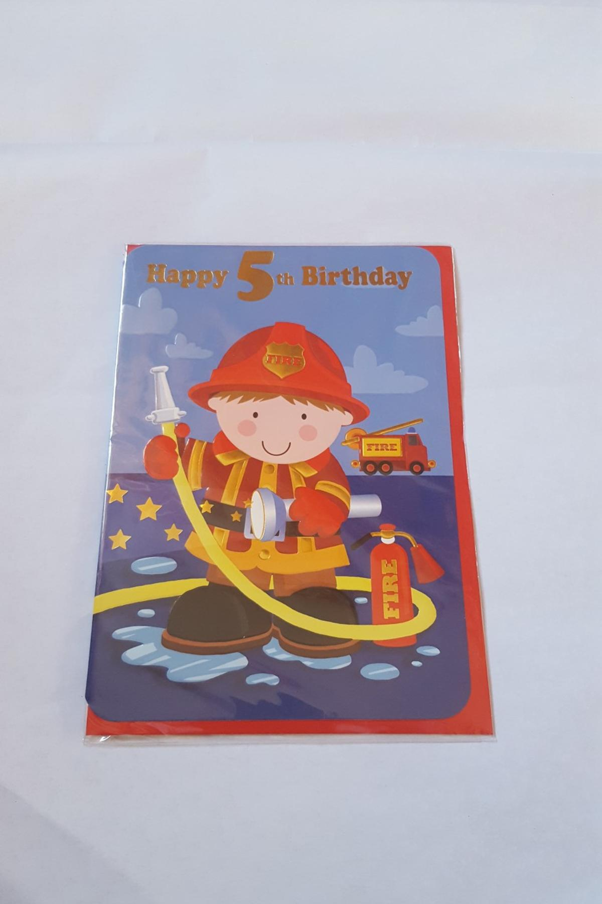 Description Boys Age 5 Birthday Card