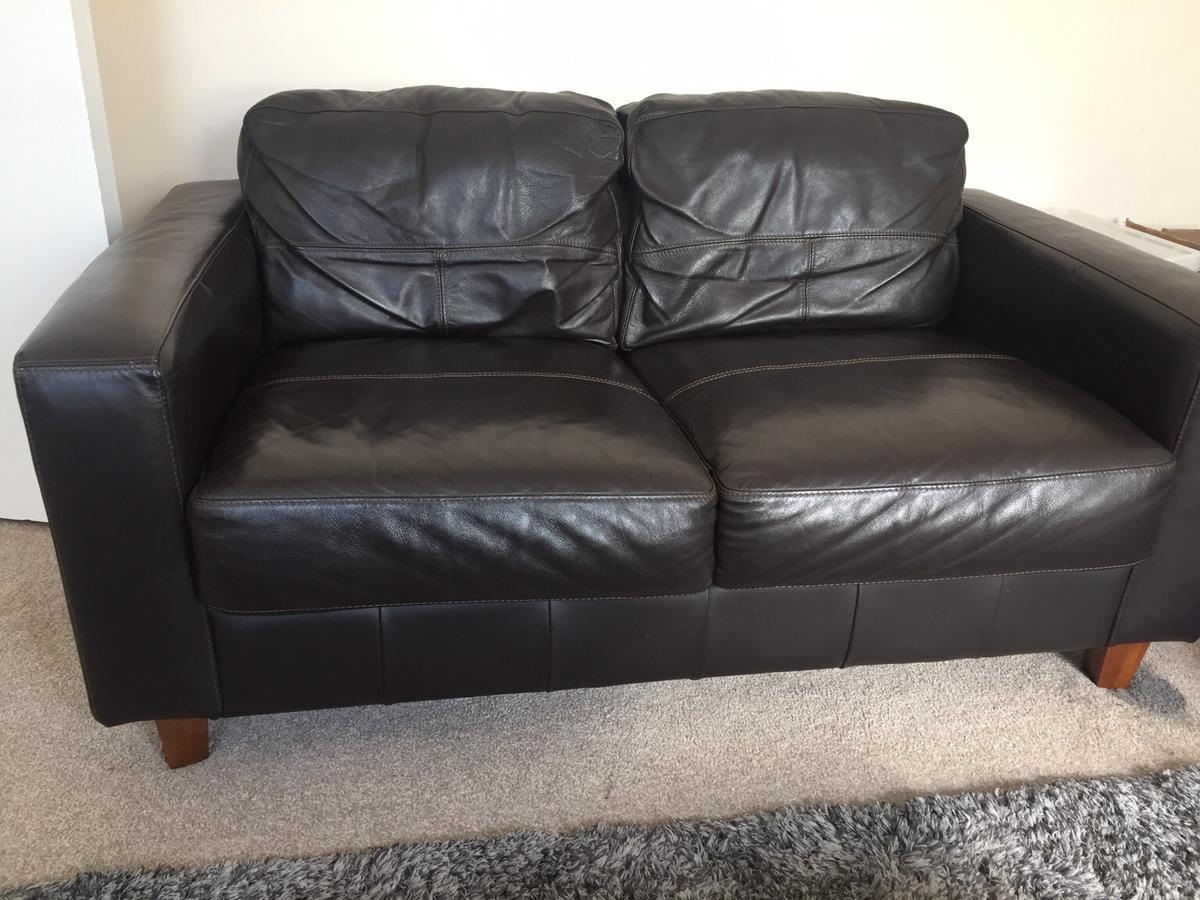 Brilliant 2 X Brown Next 2 Seater Leather Sofas Pdpeps Interior Chair Design Pdpepsorg