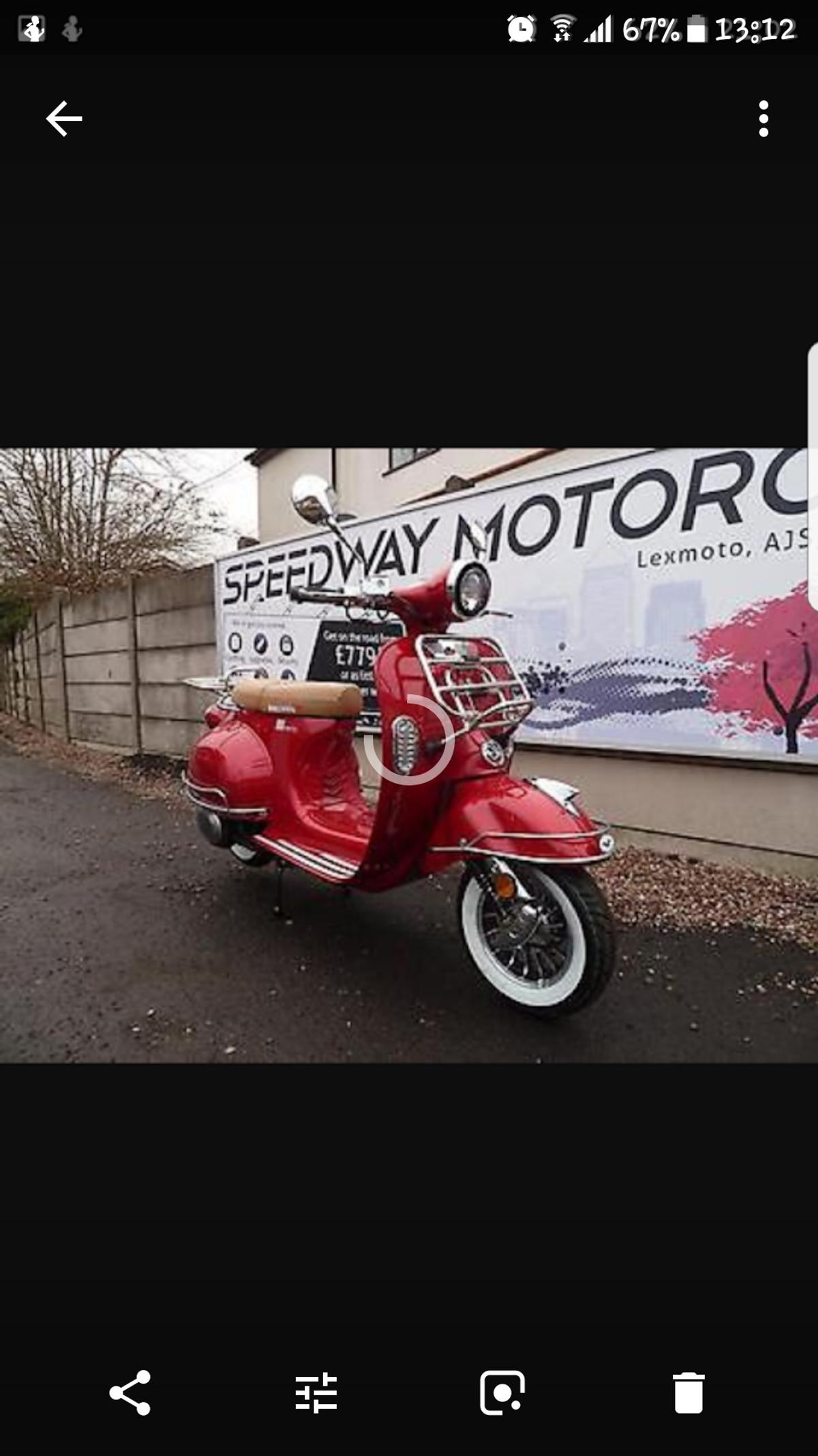 Lexmoto Milano 50cc Scooter 2016  in FY7 Wyre for £700 00