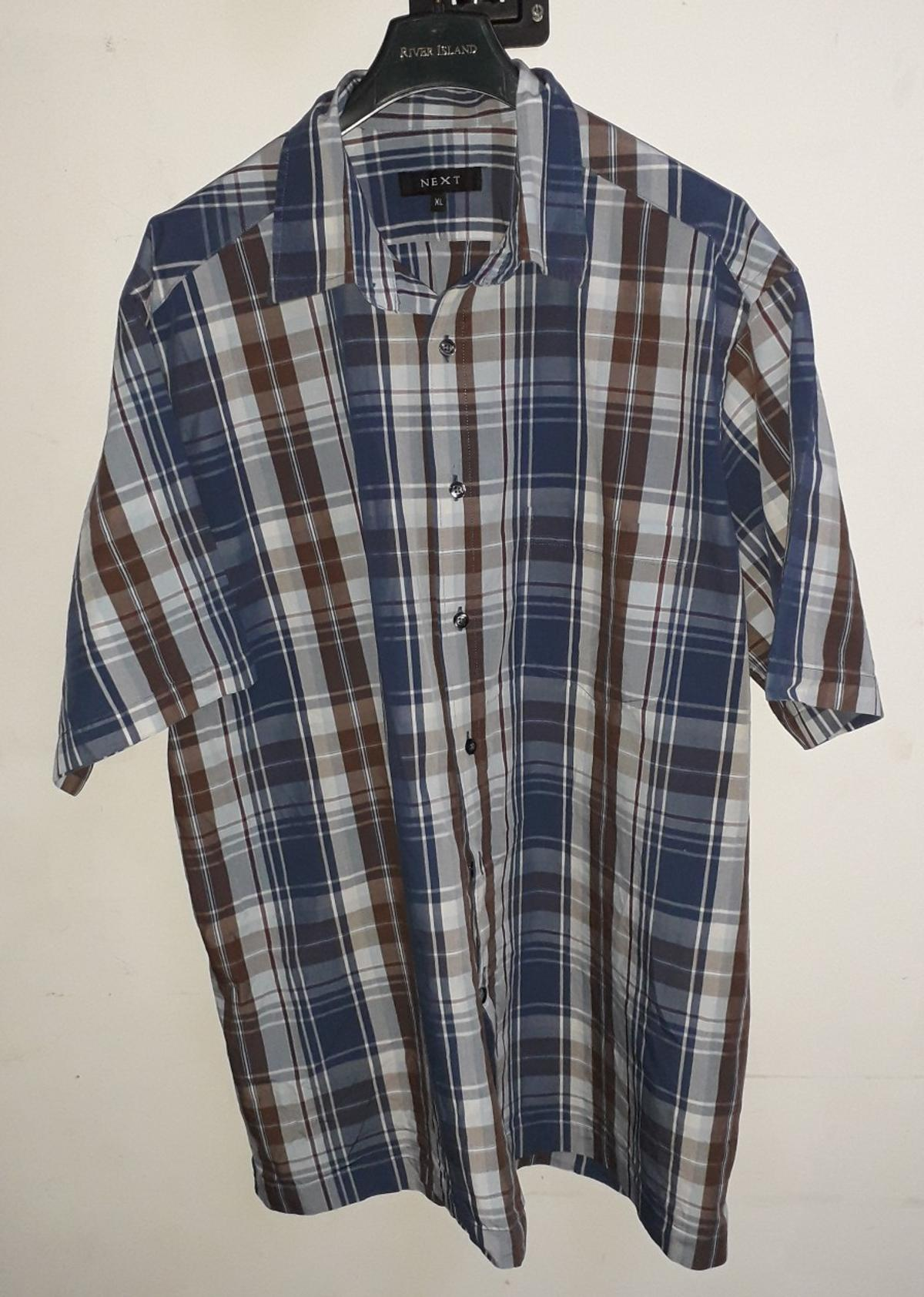 Clothing, Shoes & Accessories Next Checked Short Sleeves Shirt Xl Men's Clothing