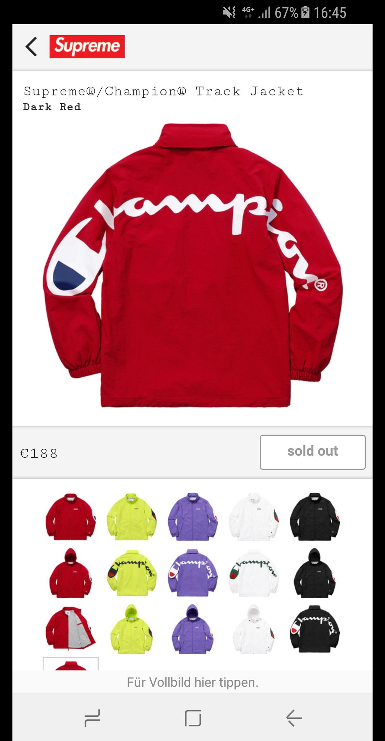 946efb3c19dbf Supreme x Champion Jacket in 1030 Wien for €200.00 for sale - Shpock