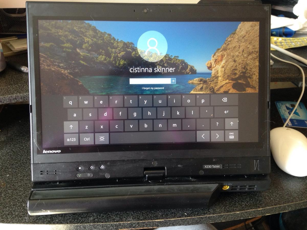Lenovo thinkpad touch screen laptop