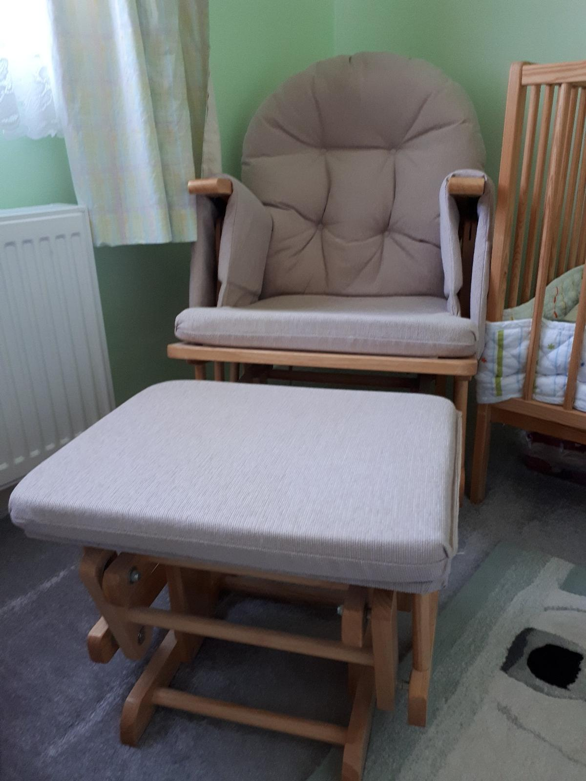 Miraculous Reclining Glider Nursing Chair And Footstool Pabps2019 Chair Design Images Pabps2019Com