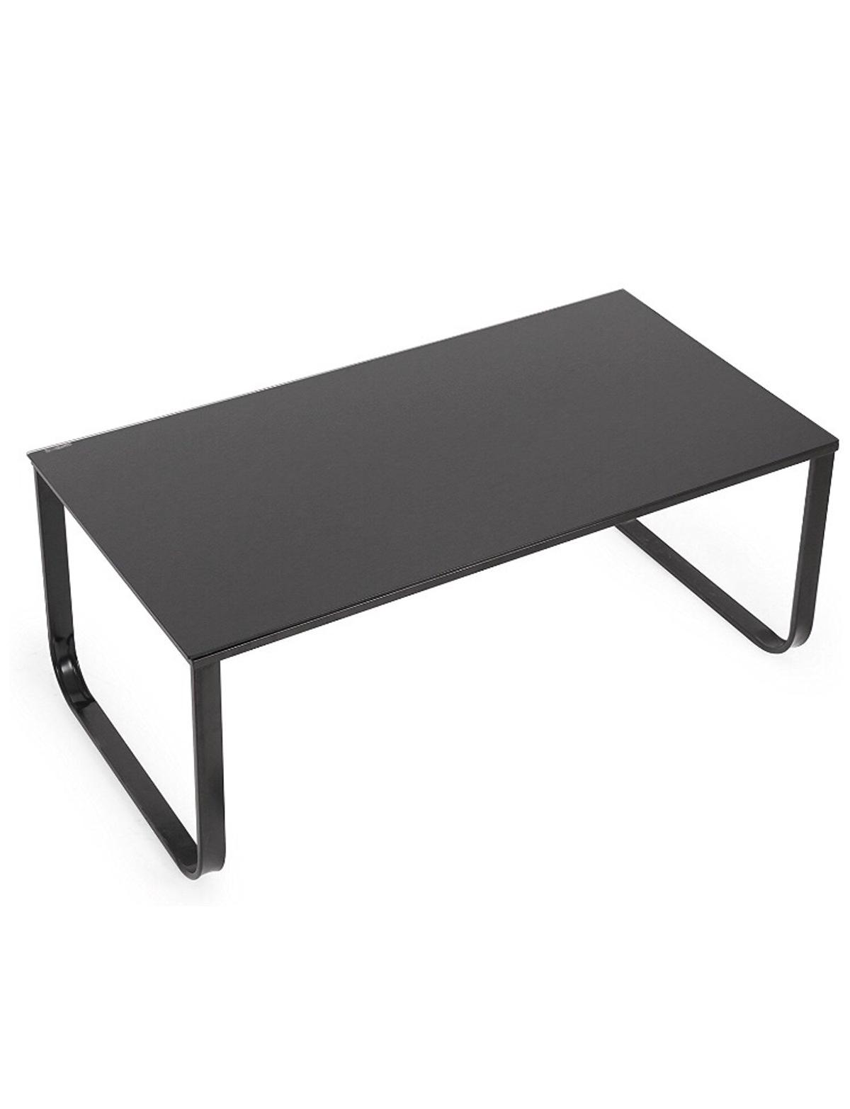 Picture of: Ofcasa Glass Coffee Table Modern Design Coffee Table With Metal Legs Side Table Living Room Table Black Glass Furniture Living Room Furniture