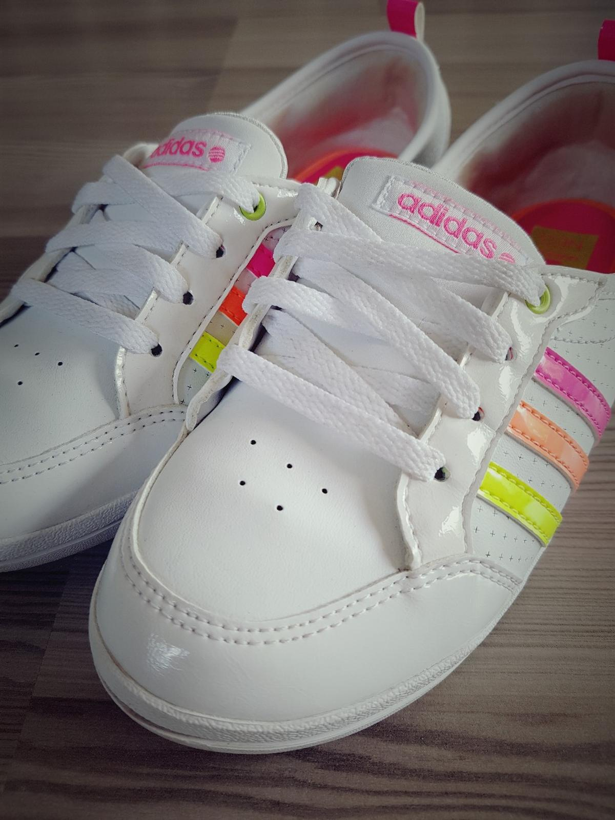 Adidas Neo Piona weiß Sneaker Neon Lack Pink in 12357 Rudow