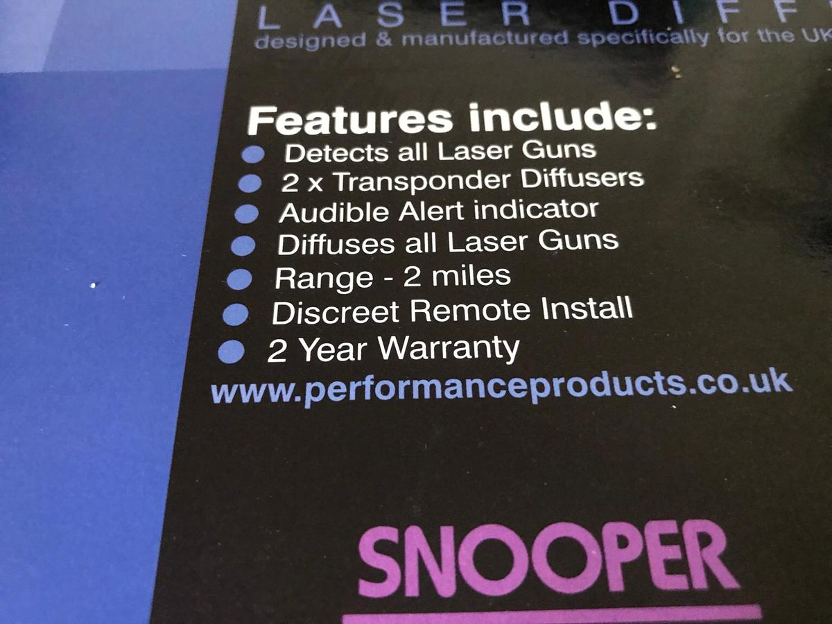 Snooper sld920 laser hammer & diffuser as new in DY10 Wyre