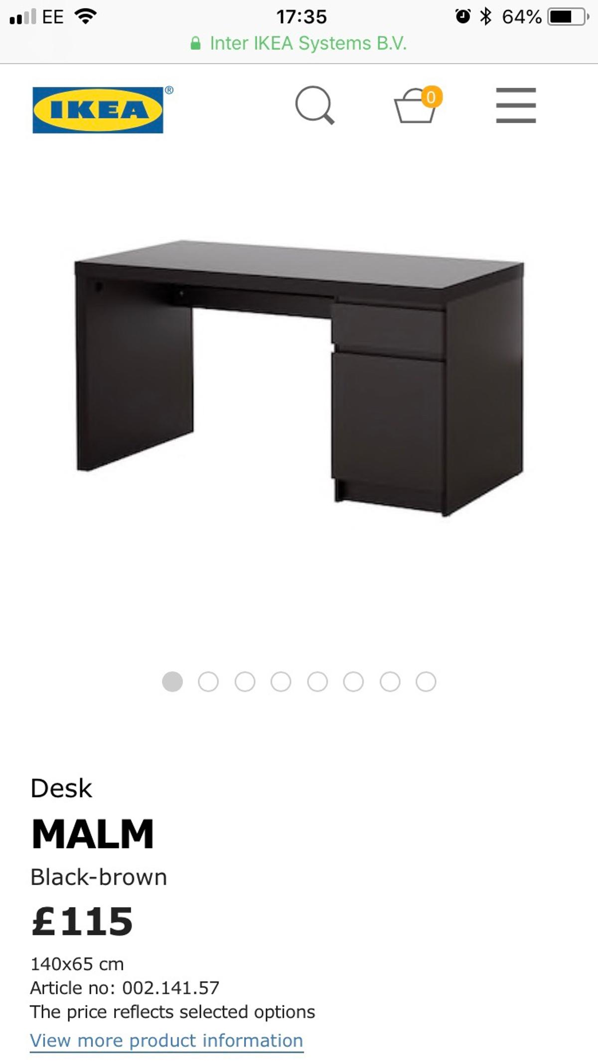Ikea Malm Pc Desk In Mk6 Green For 50 00 For Sale Shpock