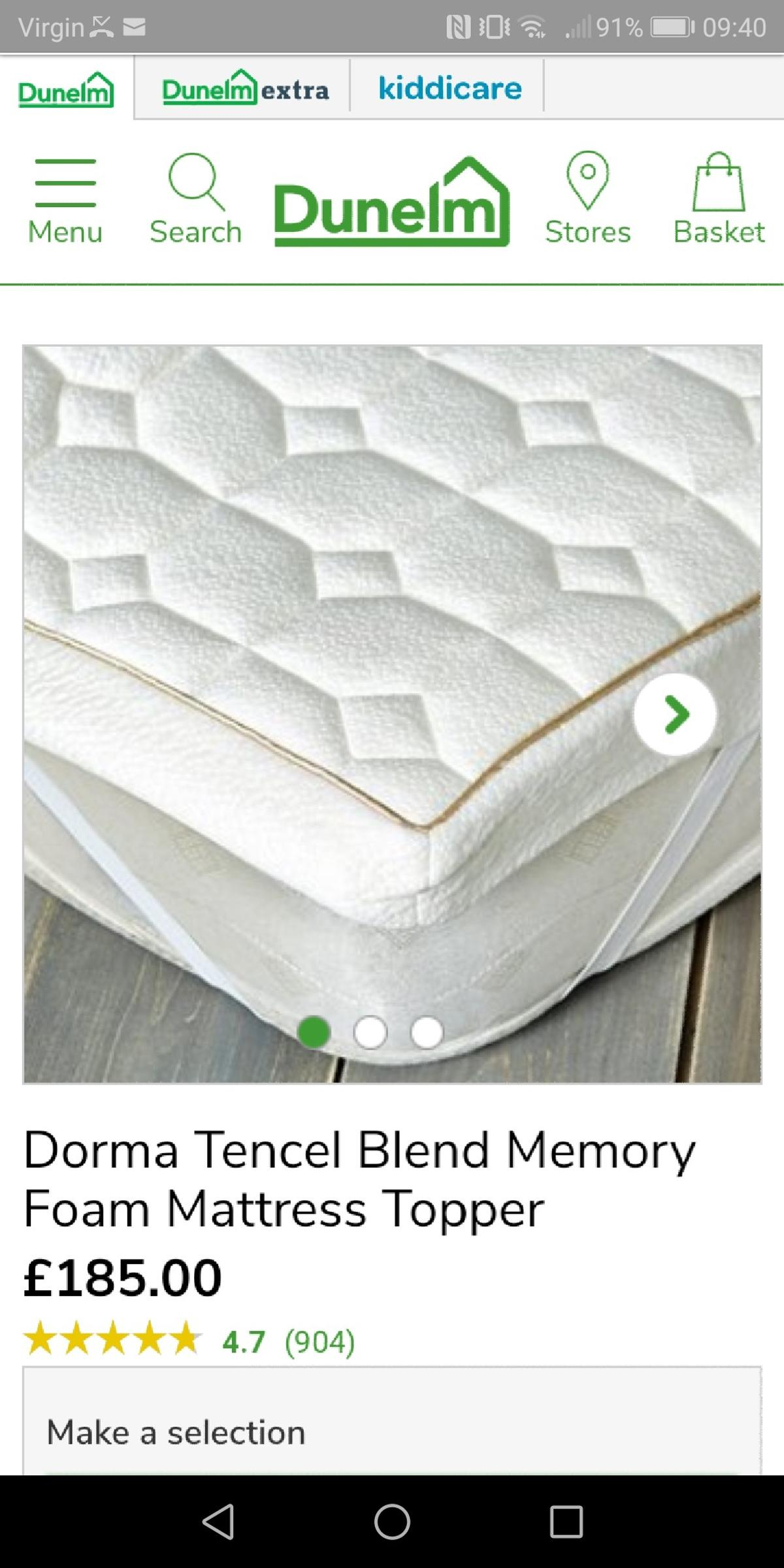 wholesale dealer b6a8a 03f07 Dorma Tencel Mattress Protector