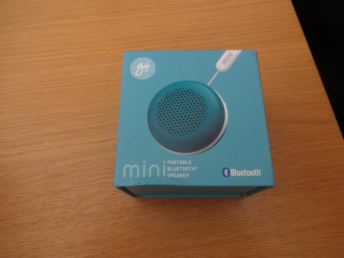 goji mini portable bluetooth wireless speaker