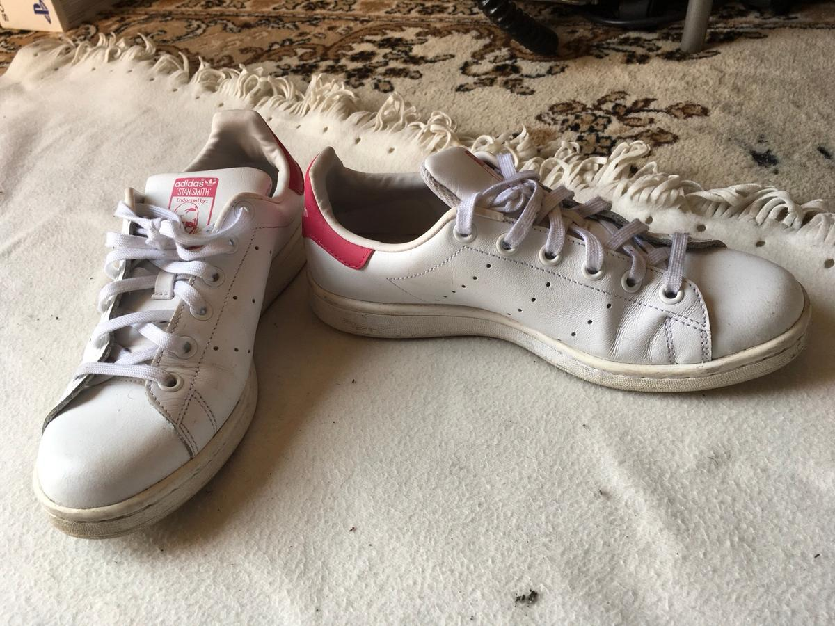 online store 919cd 439d0 Adidas stan smith ladies trainers size 5 used in LE5 ...