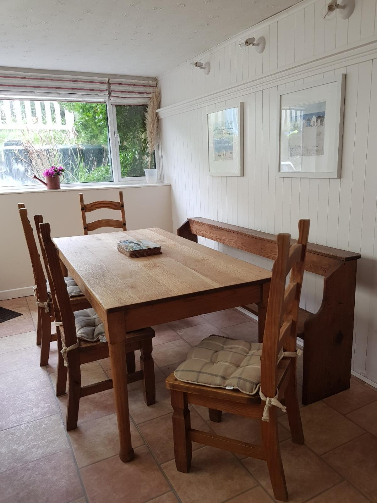 Dining Table Chairs And Church Pew Or Bench In Epping