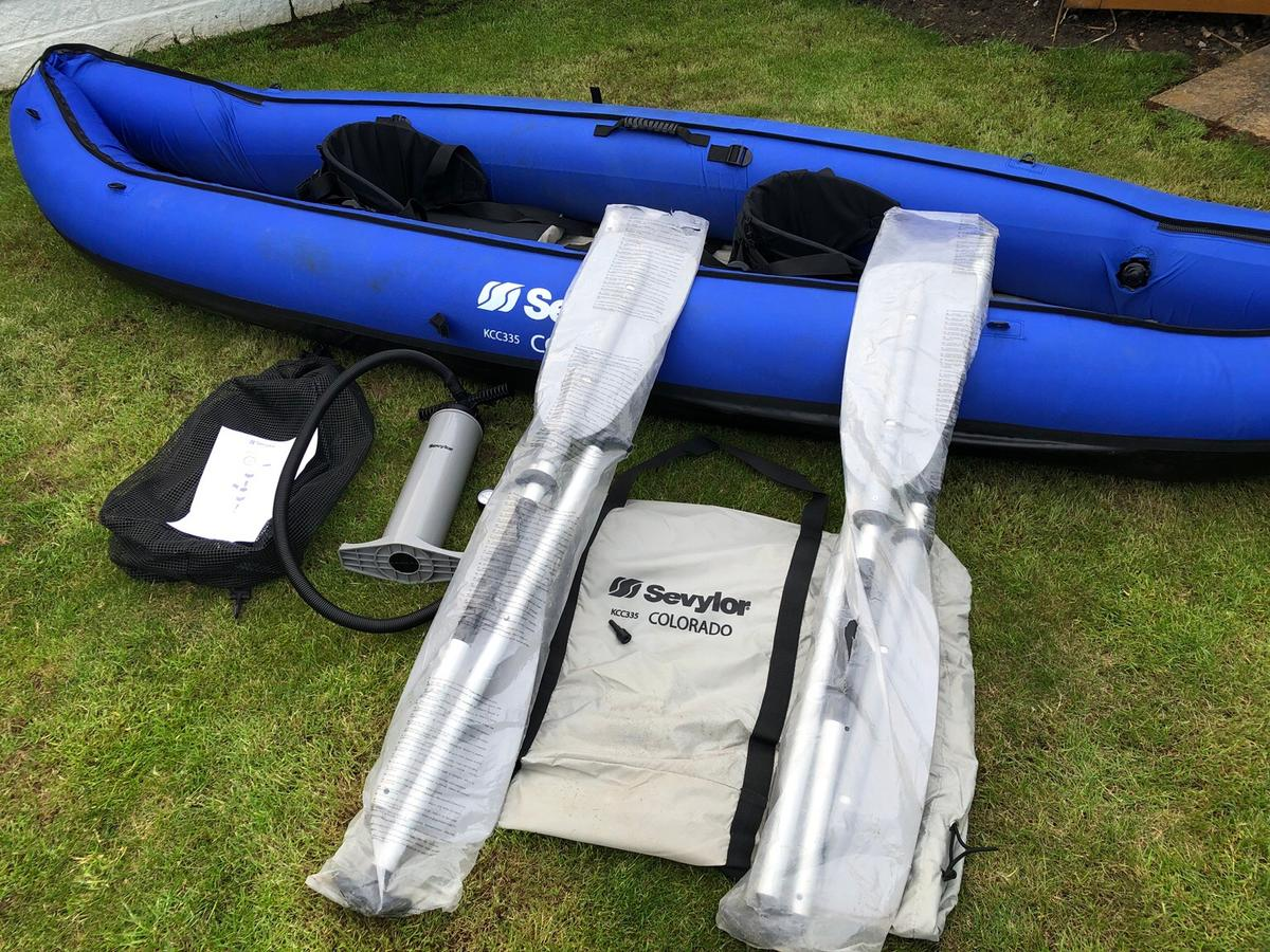 Sevylor Colorado Inflatable Canoe / Kayak in KT17 Ewell for