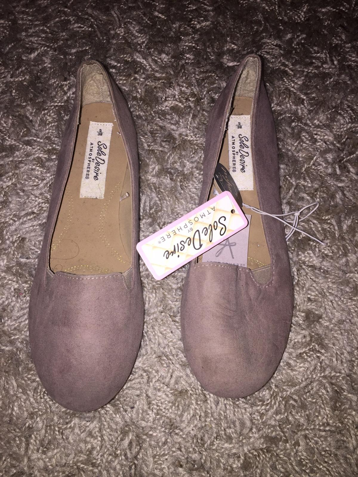 New Taupe nude Suede flat pumps soft soles