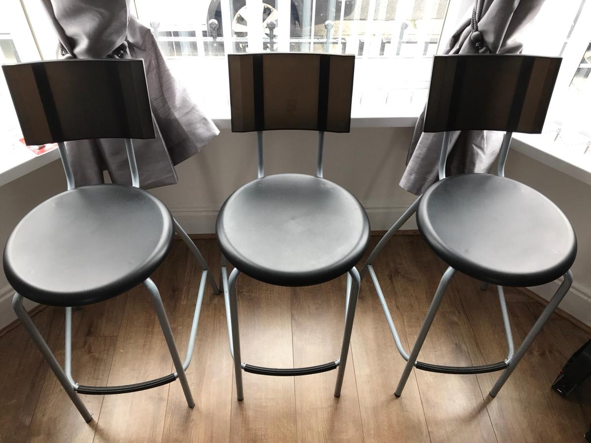Fine Free 3 X Black Ikea Anssi Bar Stool 29 In L7 Liverpool Gmtry Best Dining Table And Chair Ideas Images Gmtryco