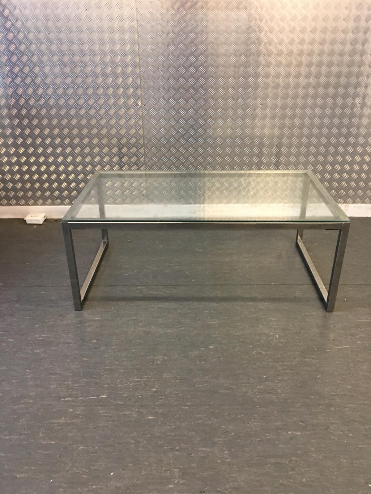 Ikea Chrome Glass Coffee Table In Sw16 London Borough Of Merton For 40 00 For Sale Shpock
