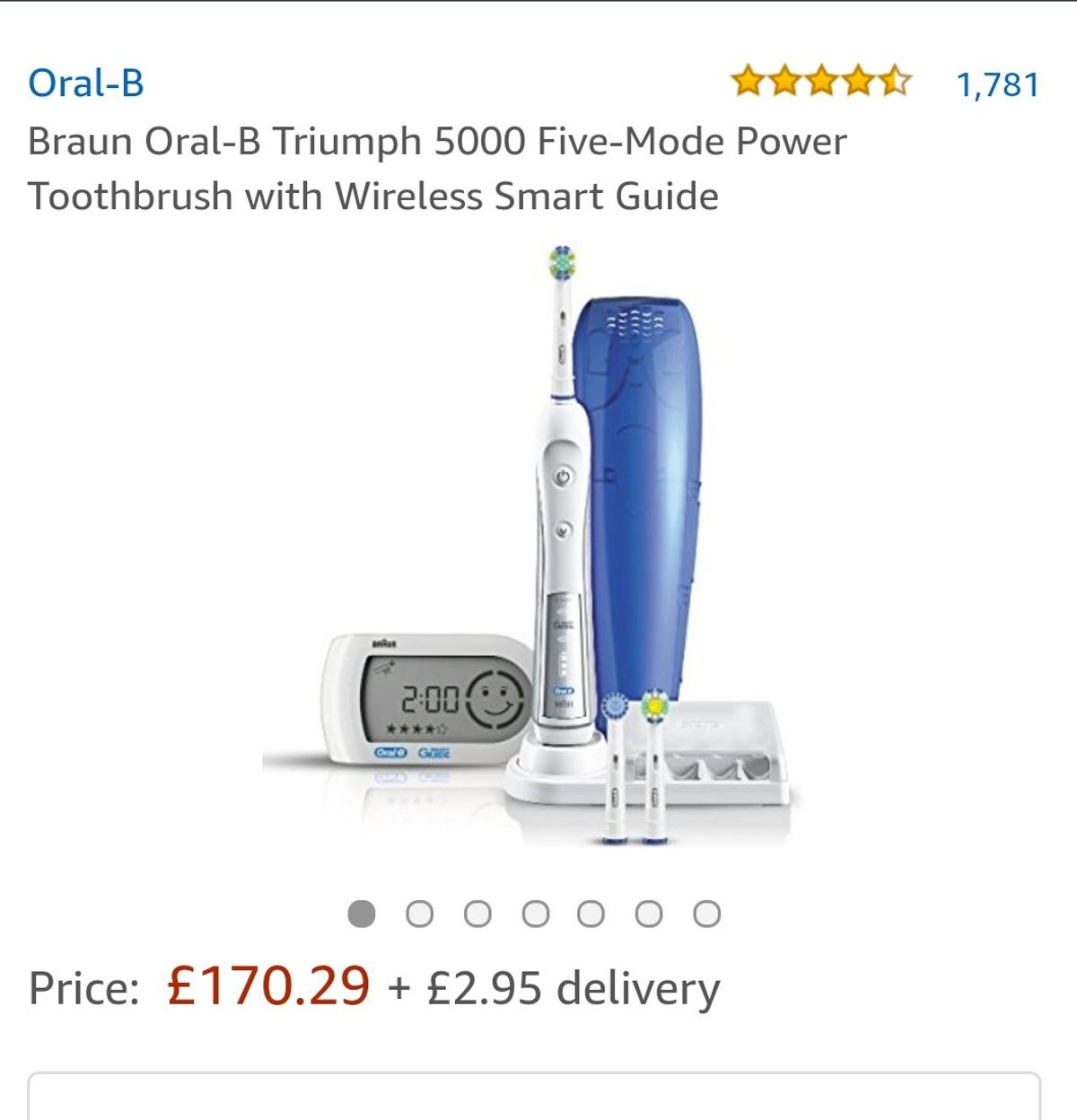 Braun Oral B Triumph 5000 Power Toothbrush in IG9 Forest for
