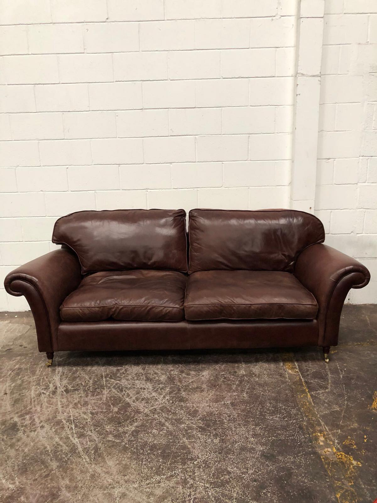 Laura Ashley 3 seater leather sofa in EX15 cullompton for £450.00 ...