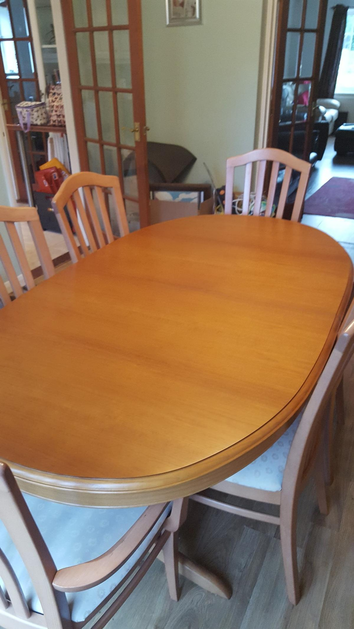 Parker Knoll Dining Table And 6 Chairs