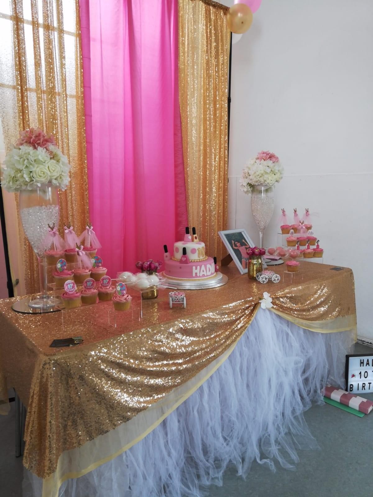 Amazing Backdrop Cupcakes Table Cover Chair Cover In Se6 London Fur Bralicious Painted Fabric Chair Ideas Braliciousco