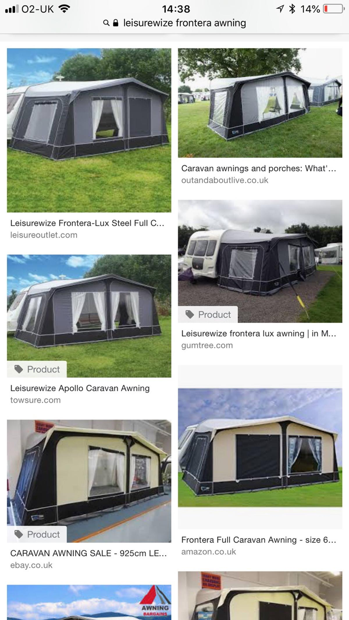 Leisure wise caravan awning in WF9 Wakefield for £350 00 for