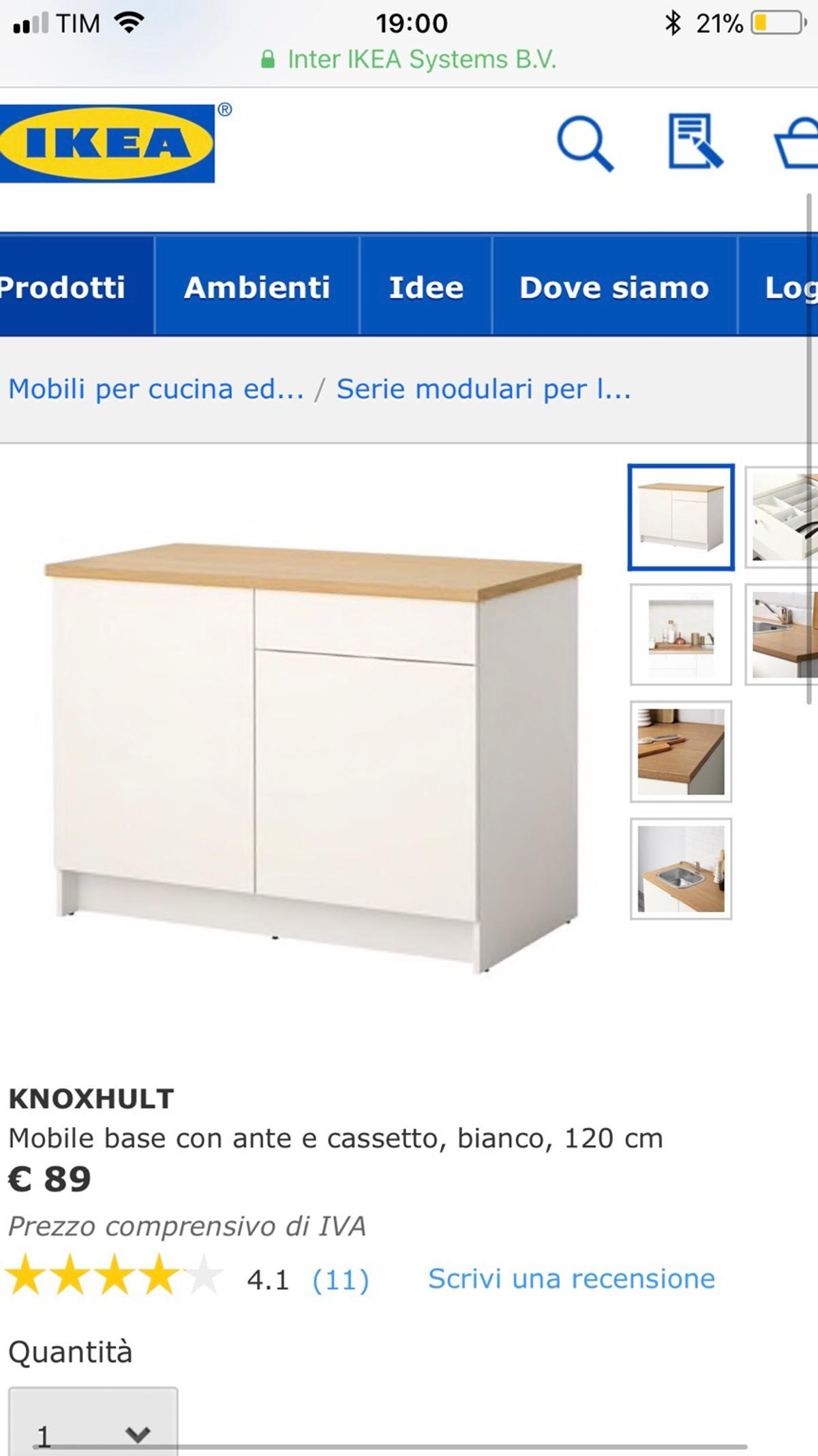 Cucina Ikea Mobile In 10129 Turin For 40 00 For Sale Shpock