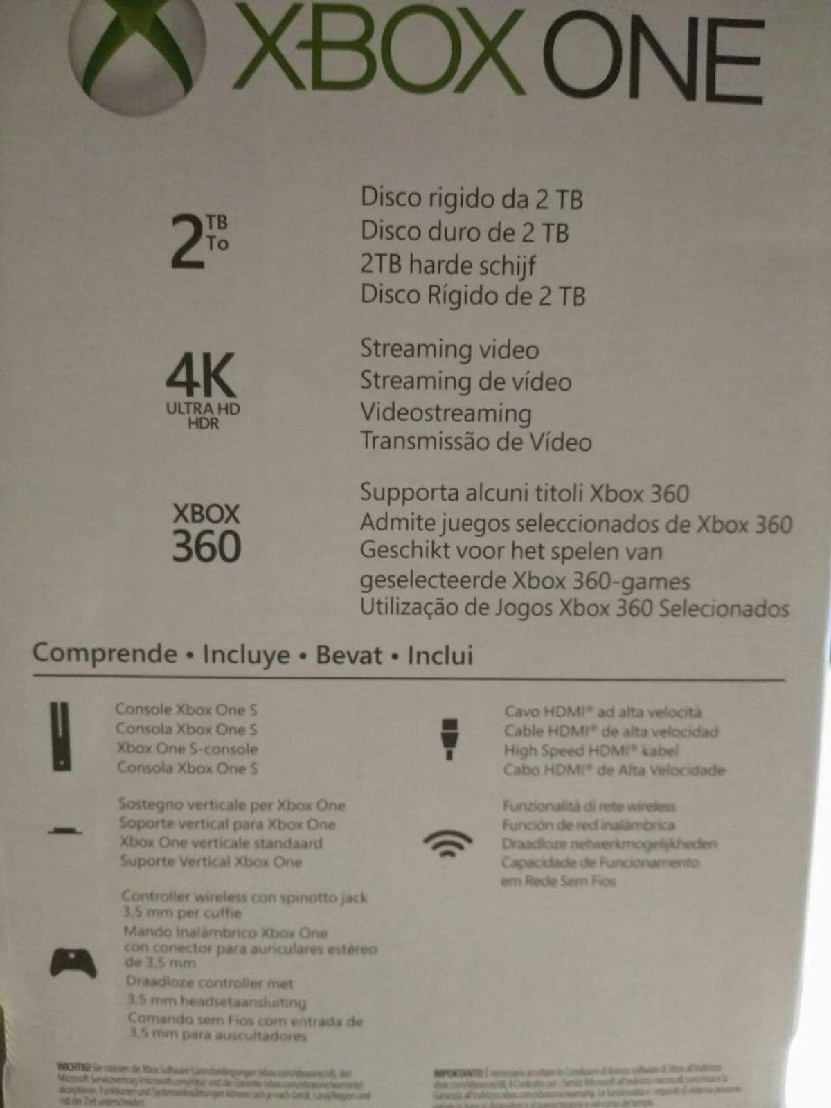 Xbox One S 2TB (+4 games) in 67686 Mackenbach for €290 00 for sale