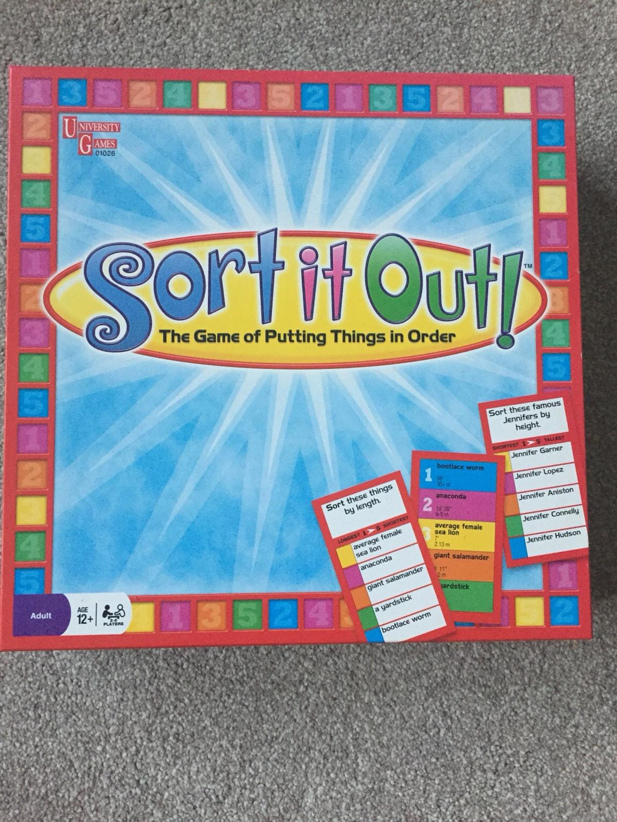 Board game 'Sort it out'